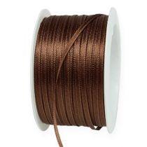Cinta de regalo marrón 3mm x 50m