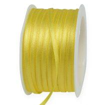 Cinta de regalo amarilla 3mm x 50m