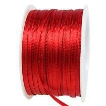 Cinta de regalo y decoración 3mm x 50m rojo claro