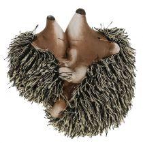 Figura para decorar erizo con niño 11,5cm 2pcs