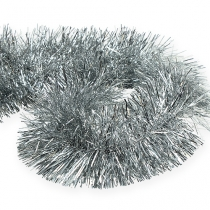 Guirnalda de oropel plata 2m