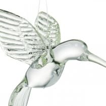 Colibrí de decoración, decoración de cristal, ave del paraíso, colgante de cristal, pájaro de decoración