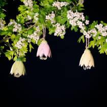 Percha decorativa flor metal pastel 9cm 4pcs