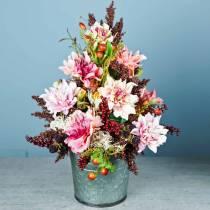 Flor artificial dalia lila 63cm