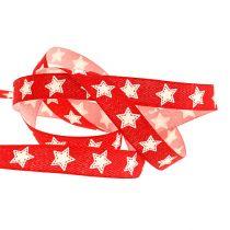 Banda decorativa con patrón de estrella roja 15mm 20m