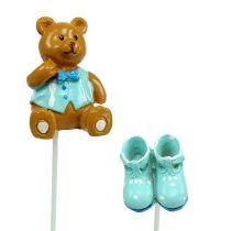 Oso Decoración del ramo, Zapato Azul 1,5-4cm 16pcs