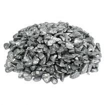 Piedras decorativas 9mm - 13mm 2kg plata