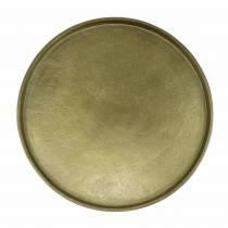 Placa decorativa arcilla Ø20cm oro