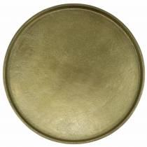 Plato decorativo arcilla Ø30cm oro