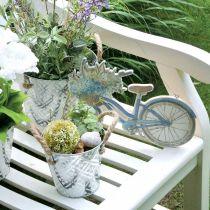 Macetero decorativo de metal, macetero con estampado de flores, recipiente de metal para plantar Ø20,5cm