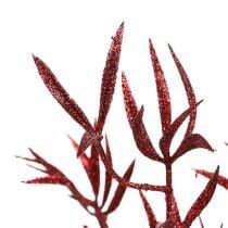 Deco rama roja con mica 69cm 2pcs