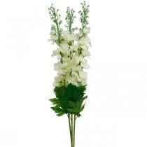 Delphinium blanco artificial delphinium flores de seda flores artificiales 3 piezas