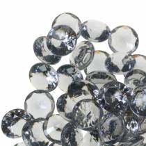 Piedras decorativas Diamante acrílico Gris Ø1,2cm 175g