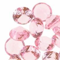 Piedras decorativas Diamante acrílico Rosa claro Ø1,8cm 150g Decoración para la mesa