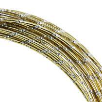 Hilo de aluminio diamante oro 2mm 10m