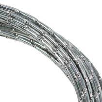 Hilo de aluminio diamante plata 2mm 10m
