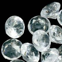 Piedras decorativas diamante claro Ø2.8cm 150g decoración de mesa