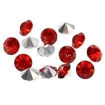 Diamante acrílico 8mm rojo 50g