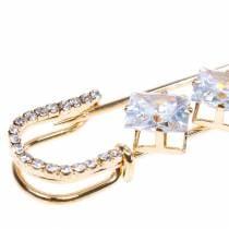 Alfiler de seguridad Joya Aguja Diamante Oro 2 piezas