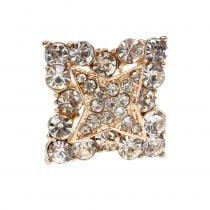 Aguja de diamante Decoración de boda Oro 7cm 9pcs