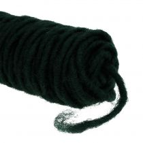 Hilo de mecha fieltro hilo verde oscuro 55m