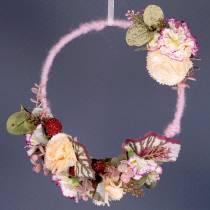 Hilo de mecha fieltro cordon rosa antigua