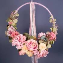 Mecha hilo fieltro cuerda rosa 55m