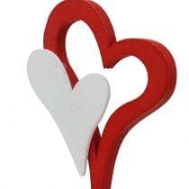 Enchufe decorativo doble corazón 28cm 18pcs