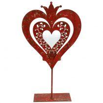 Deco corazón con linterna H26cm
