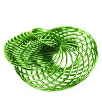 Ruedas de alambre Verde manzana Ø4,5cm 6pzs