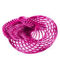 Ruedas de alambre Rosa Ø4,5cm 6pcs