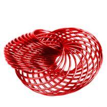 Ruedas de alambre Rojo Ø4,5cm 6pzs