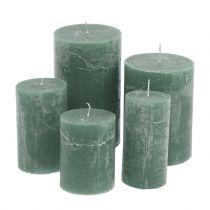 Velas de colores Verdes diferentes tamaños