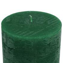 Velas de color verde oscuro 50x100mm 4pcs