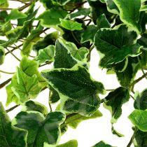 Percha Ivy tacto real verde-blanco 130cm