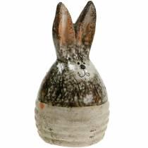 Huevo-conejito Pascua decoración terracota H11.5cm