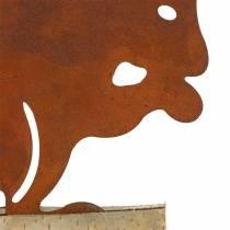 Óxido de ardilla en la base de madera 19cm x 25cm.
