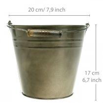 Maceta de metal, cubo para plantar, jardinera Ø20cm H17cm