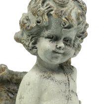 Deco angel cupido con corazón 25cm 2pcs
