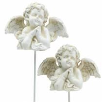 Decoración grave ángel Decoración del ramo rezando 5cm 4pcs