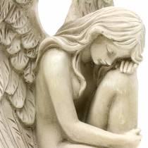 Joya decorativa de ángel grave 16.5cm × 12cm H19cm