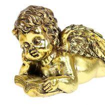 Ángel con libro mentiroso oro 11-13cm 4pcs