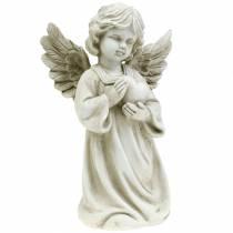 Ángel decorativo con corazón H25cm