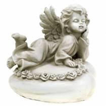 Ángel decorativo en corazón con LED 16cm 19cm H14.5cm