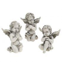 Figuras de ángel gris 9cm 3pcs