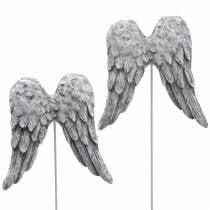 Enchufe decorativo alas de angel 10cm 3pcs