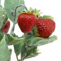 Palillo de fresa artificial rojo L30cm
