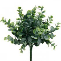 Decoración de boda de eucalipto artificial ramas de eucalipto verde H26cm