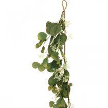 Guirnalda de eucalipto artificial con cardos decoración de otoño 150cm