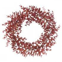 Corona decorativa eucalipto rojo Corona de eucalipto artificial Ø32cm